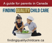 Finding quality child care banner in English